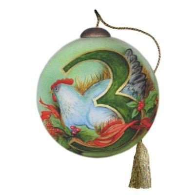 Day 3 of the Twelve Days of Christmas Ne'Qwa Art Ornament