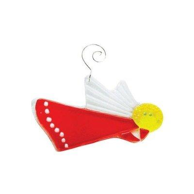 Christmas Ornament Angel in Flight Red Fenton Glass