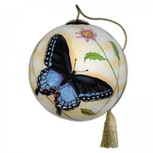 Blue Butterflies Ne'Qwa Art Ornament