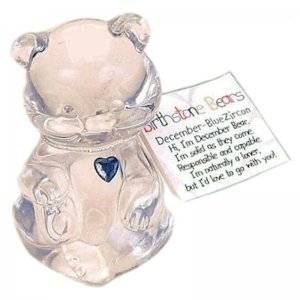 December Birthstone Bear Figurine Fenton Glass