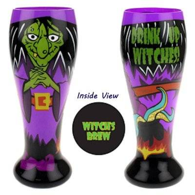 Drink Up Witches Halloween Beer Glass by Top Shelf