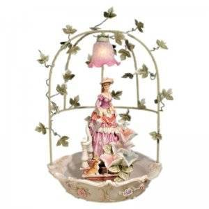 Enchanted Maiden Table Lamp and Fountain by OK Lighting