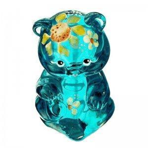 Bear Cub Figurine Robin Egg Blue Fenton Glass