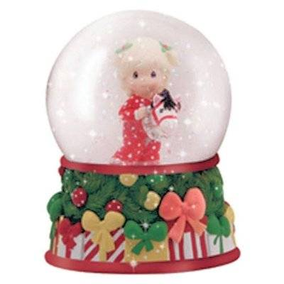 Girl with Hobby Horse Musical Water Globe