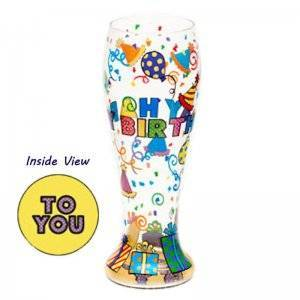 Happy Birthday Beer Glass by Top Shelf