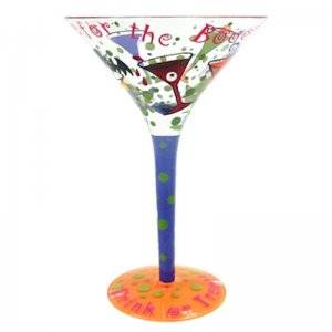 Im Here for the Boos Halloween Martini Glass by Top Shelf