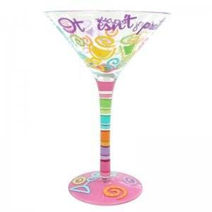 It Isnt Pretty Being Easy Martini Glass by Top Shelf