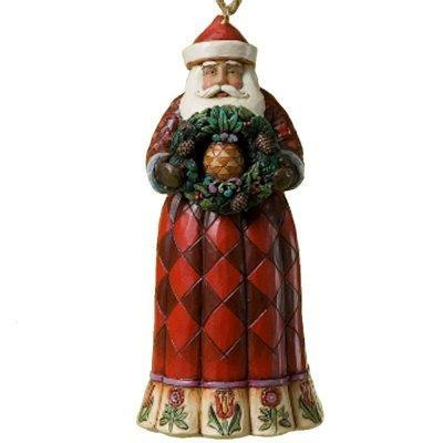 Santa with Christmas Pineapple Ornament Jim Shore
