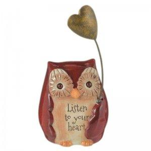 Listen to Your Heart Owl Figurine by Grasslands Road