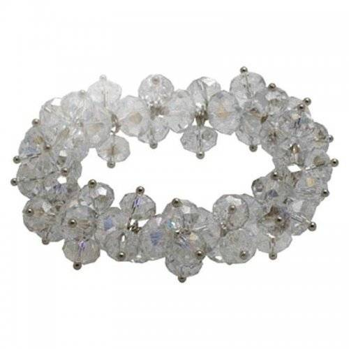 Clear Crystal Stretch Bracelet by Spring Street Designs