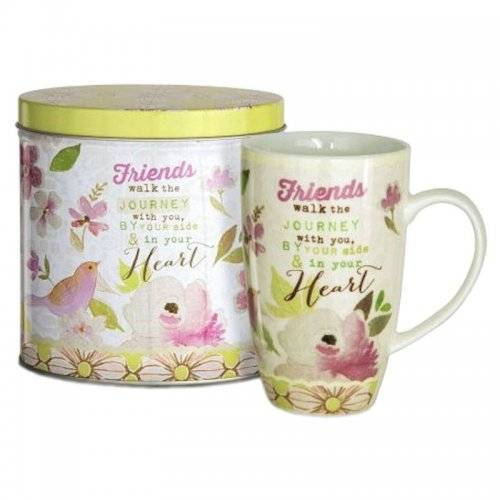 Friend Coffee Cup in Gift Tin by Artist Stephanie Ryan