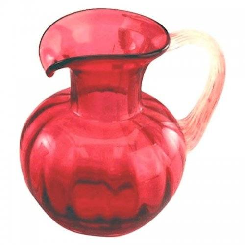 Gold Ruby Glass Pitcher 6 Inches Fenton Glass