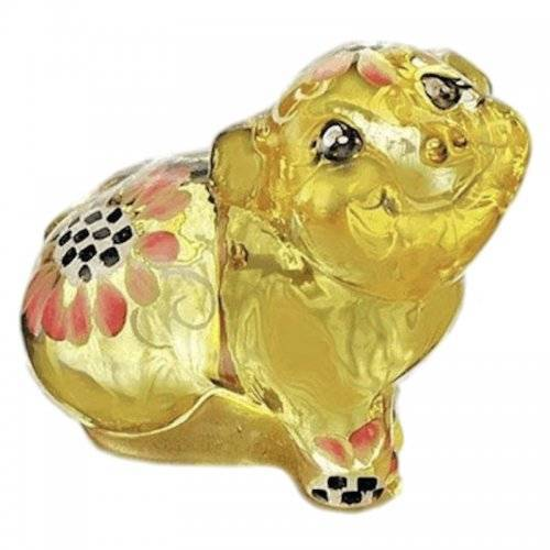 Pig Figurine in Buttercup Yellow by Fenton Glass