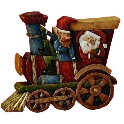 Santa Train Puzzle Figurine by Roman
