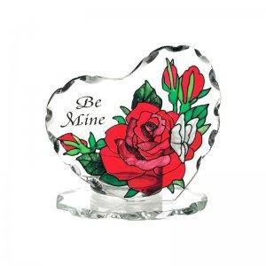 Be Mine Stained Glass Candle Holder