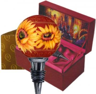 Sunflowers Ne'Qwa Art Wine Stopper