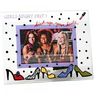 Girls Night Out Kick Up Your Heels Glass Picture Frame Top Shelf