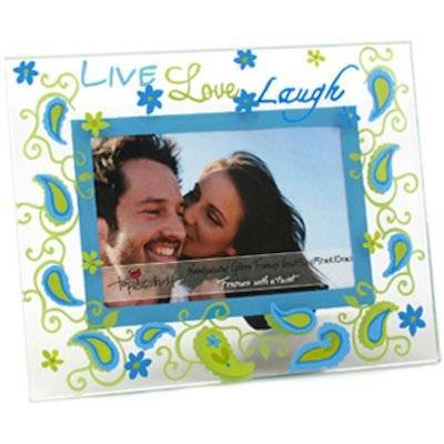 Live Love Laugh Glass Picture Frame by Top Shelf