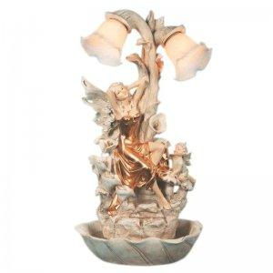 Fairy Table Lamp and Fountain with 2 Lights by Ok Lighting