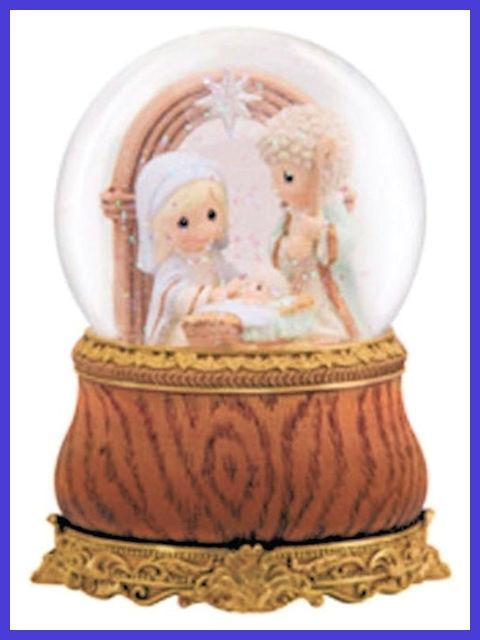 Holy Family Musical Water Globe by Precious Moments