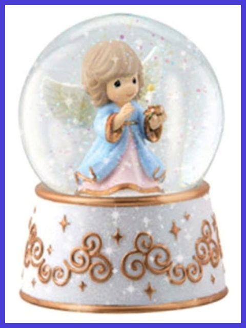 Let His Light Shine Angel Musical Water Globe Precious Moments