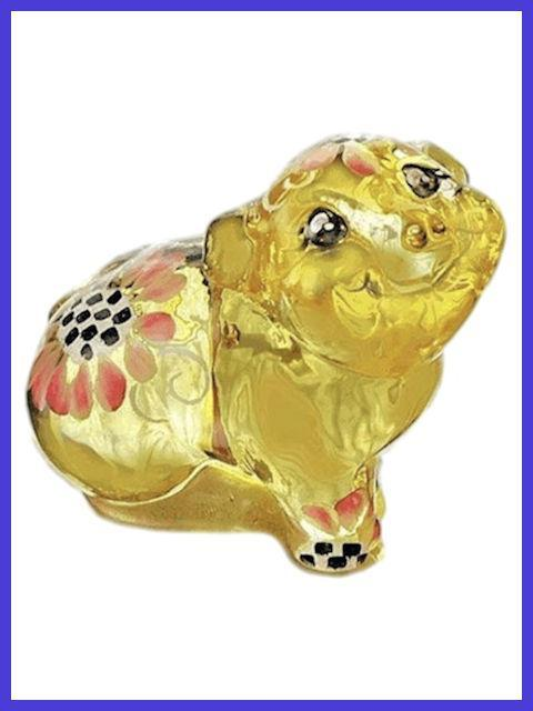 Pig Figurine with Floral Design by Fenton Glass