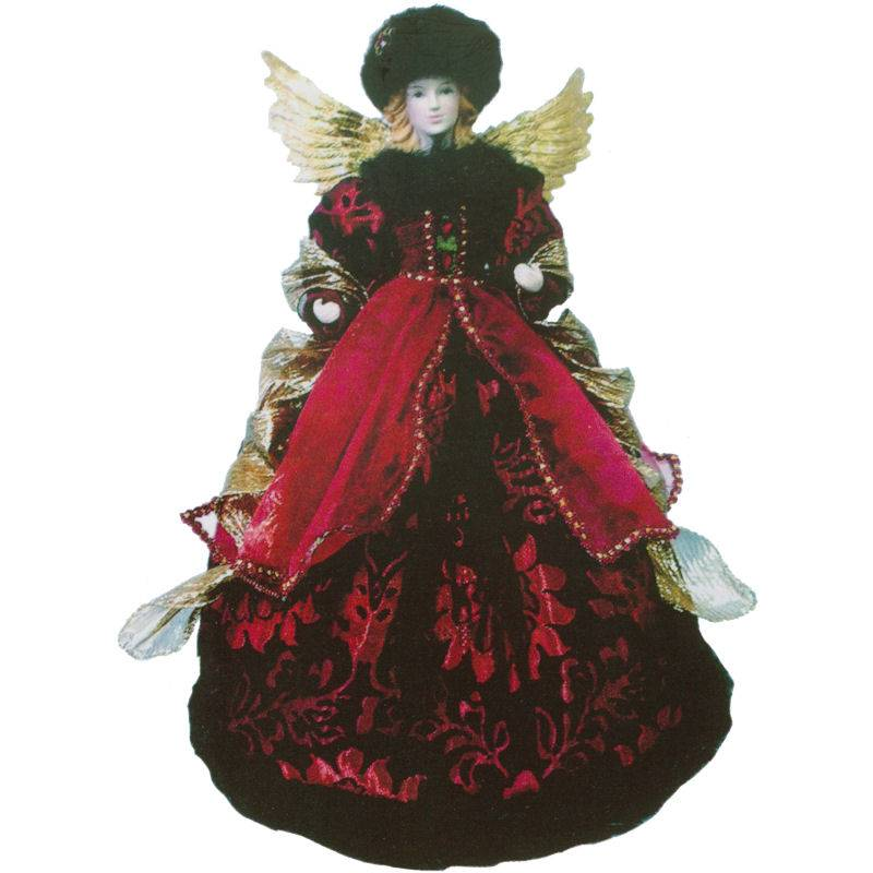 Red and Black Angel Christmas Tree Topper
